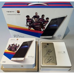 OPPO R7 Plus FC Barcelona Edition smartphone signed by Messi, Neymar and Suarez