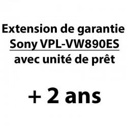 Extension de garantie de 2 ans pour Sony VPL-VW890ES avec unité de prêt