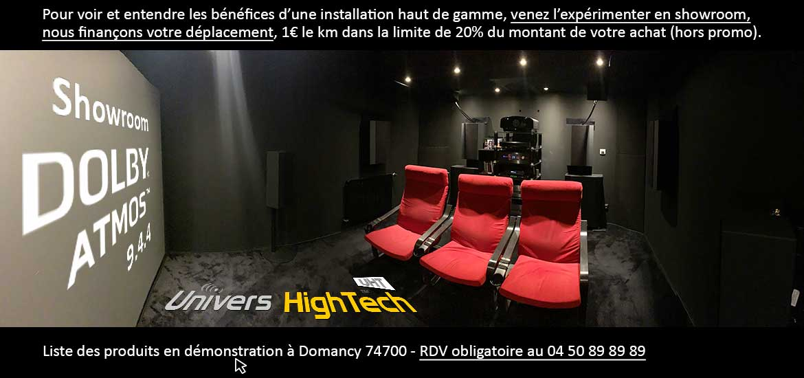 Salle Dolby Atmos 9.4.4 chez Univers HighTech
